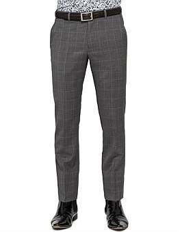 Ted Baker Wool Blue Wind Check Trouser