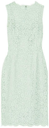 Dolce & Gabbana - Corded Cotton-blend Lace Dress - Mint $2,395 thestylecure.com