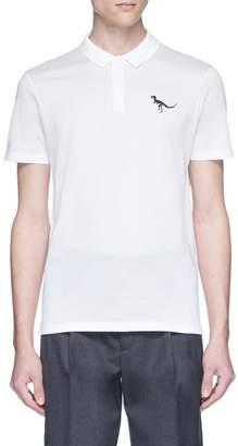 Lanvin Dinosaur embroidered polo shirt