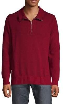 Kiton Half-Zip Cashmere Sweater