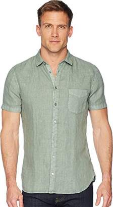 HUGO BOSS BOSS Orange Men's Short Sleeve Garment Dyed Linen Shirt
