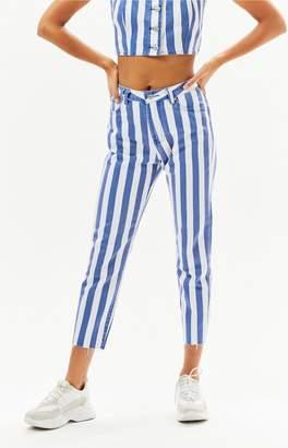 Insight Candy Stripe Mom Jeans