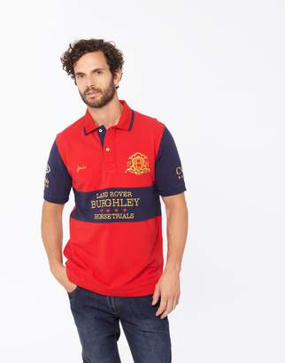 Joules Clothing Red Official burghley horse trials 2017 Classic Fit Polo Shirt