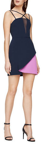 BCBGMAXAZRIABcbgmaxazria Colorblock Crisscross-Neck Dress