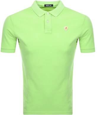 Replay Polo T Shirt Green
