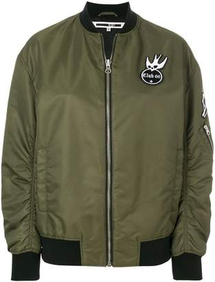 McQ Swallow badge bomber jacket