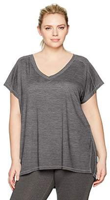 Fruit of the Loom Fit for Me by Women's Plus Size Active Brushed Poly Tee