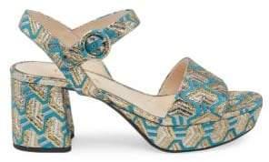 Prada Single Band Fabric Platform Sandals