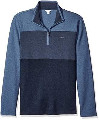 Calvin Klein Men's Mock Neck Quarter Zip Sweater