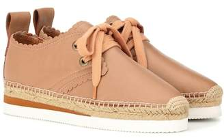 See by Chloe Glyn lace-up leather espadrilles