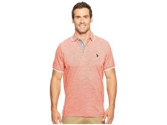 U.S. Polo Assn. Short Sleeve Solid Classic Fit Slub Polo Shirt Men's T Shirt