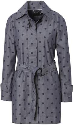 Banana Republic Chambray Dot Trench Coat