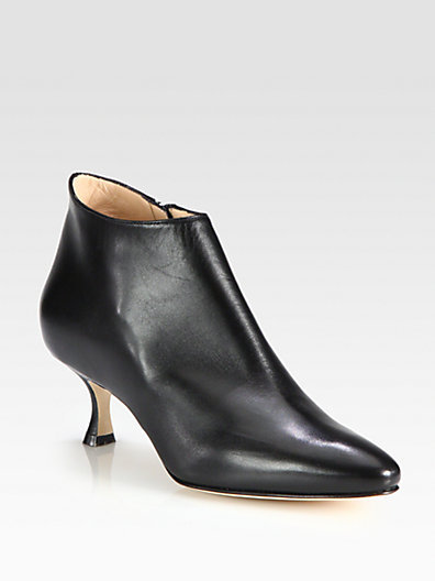 Manolo Blahnik Leather Ankle Boots