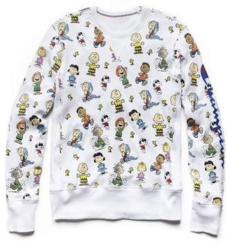 Todd Snyder Peanuts x Champion by Champion X Peanuts Gang All Over Crew in White