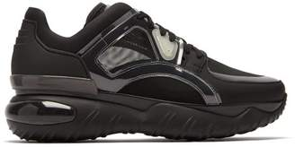 Fendi Chunky Leather Low Top Trainers - Mens - Black
