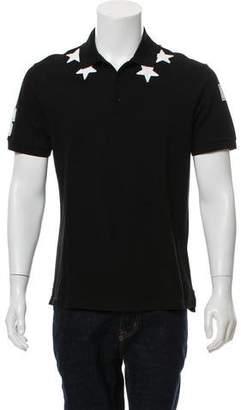 Givenchy 2016 Star Appliqué Polo Shirt