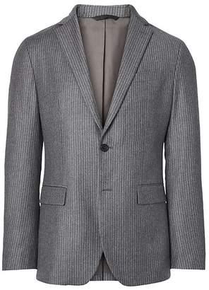 Banana Republic Slim Gray Pinstripe Italian Wool Flannel Suit Jacket