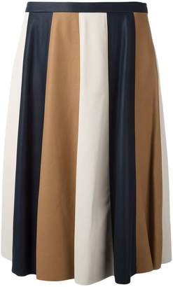Drome striped pleated skirt