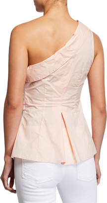 Astr Sammie One-Shoulder Tie-Front Top