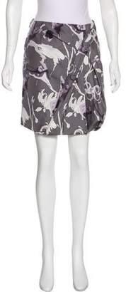 Robert Rodriguez Silk Printed Skirt