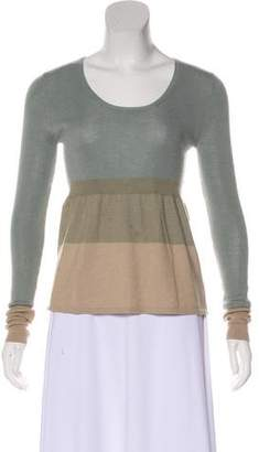 Akris Punto Rib Knit Long Sleeve Top