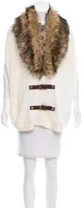 MICHAEL Michael Kors Faux-Fur Knit Vest