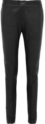 Bassike Leather Skinny Pants - Black