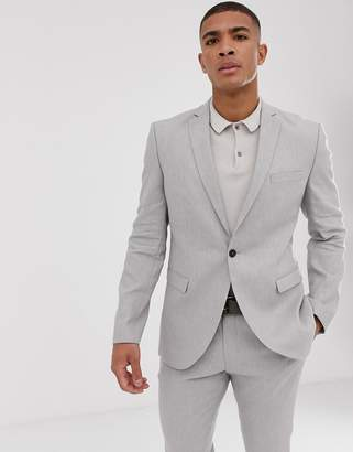 slim suit jacket in sand linen stretch