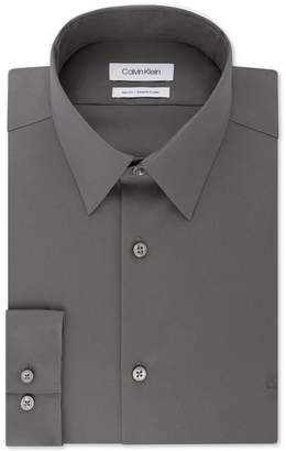 Calvin Klein Men Slim-Fit Stretch Flex Collar Solid Logo Dress Shirt