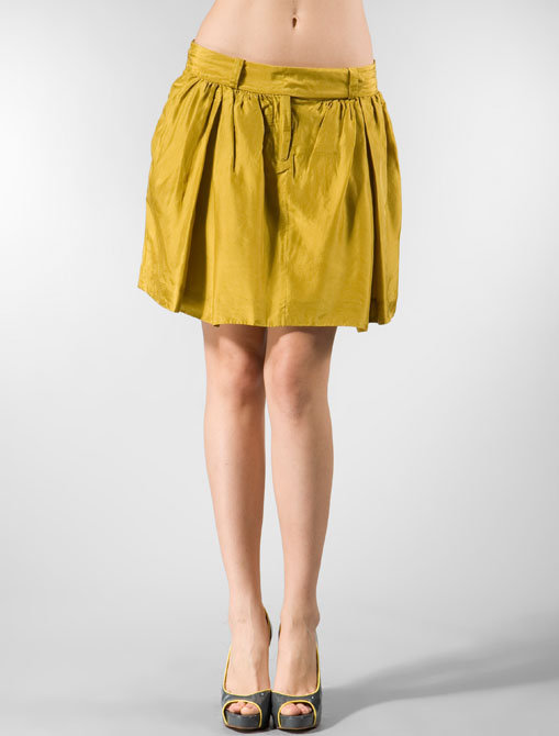 By Malene Birger Orsina Pleated Skirt in Tent