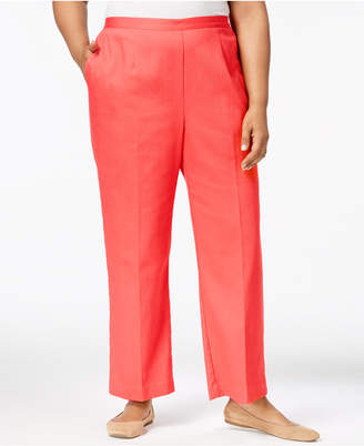 Alfred Dunner Plus Size Parrot Cay Straight-Leg Pants