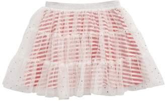 Truly Me Hologram Tiered Skirt (Toddler Girls & Little Girls)