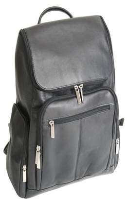 Royce Leather Colombian Vaquetta Cowhide Laptop Backpack, Black