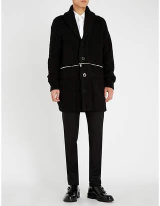 Alexander McQueen Zip-through wool cardigan