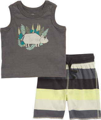 Tea Collection Rhino Graphic Tank & Shorts Set