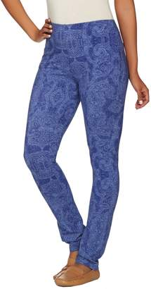 Susan Graver Weekend Printed Cotton Spandex Leggings