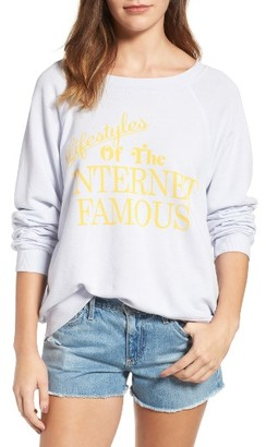 Women's Wildfox Internet Famous Pullover $108 thestylecure.com