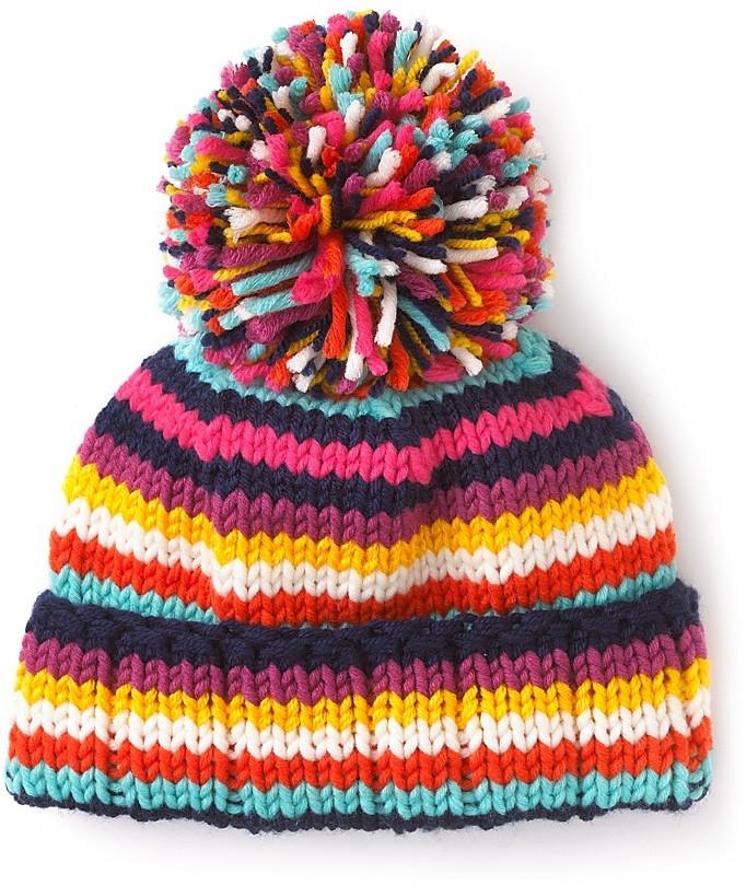 kate spade new york Women for Women Striped Pom Pom Hat