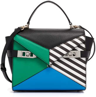Henri Bendel Uptown Mini Color Blocked Satchel