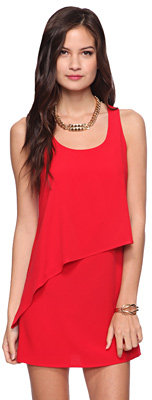 Forever 21 Asymmetrical Tiered Dress