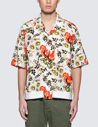 3.1 Phillip Lim Surreal Animal Souvenir S/S Shirt with Rib Hem