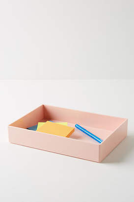 Poppin Blush Desk Accessory Tray