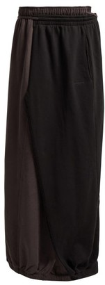 Vetements Wrap Around Cotton Maxi Skirt - Womens - Black
