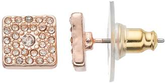 Lauren Conrad Pave Square Stud Earrings