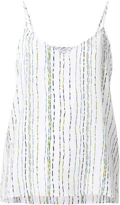 Equipment print fitted tank top