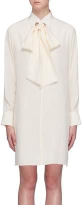 Chloé Lavallière sash tie silk crepe dress