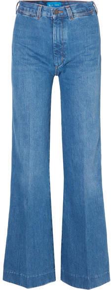 M.i.h Jeans - Bay Garnett Bay High-rise Wide-leg Jeans - Mid denim