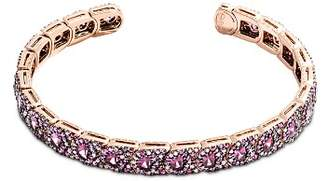 John Hardy 18K Rose Gold Cinta Collection One-of-a-Kind Mixed Stone & Champagne Pavé Diamond Cuff - 100% Exclusive