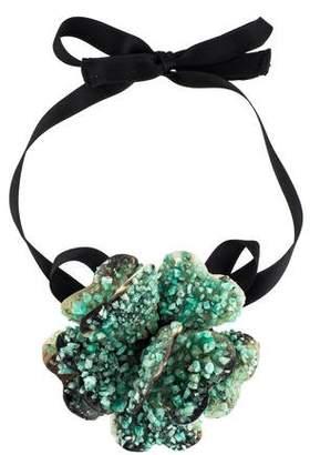 Marni Crystal & Horn Flower Choker