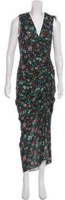 Veronica Beard Silk Sleeveless Maxi Dress